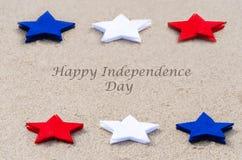 Fond heureux des Etats-Unis de Jour de la Déclaration d'Indépendance Images libres de droits