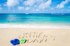 Fond heureux du jour de père Image libre de droits