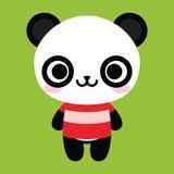 Fond heureux mignon de Panda Bear Isolated On White Photographie stock libre de droits