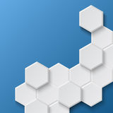 Fond hexagonal abstrait Images libres de droits