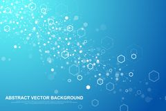 Fond hexagonal abstrait Fond futuriste de technologie dans le style de la science Fond graphique de sortilège pour votre concepti illustration libre de droits