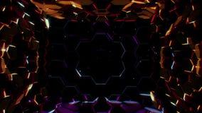 Fond hexagonal de lumières illustration libre de droits