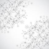 Fond hexagonal de technologie lumineuse blanche abstraite Connectio illustration stock