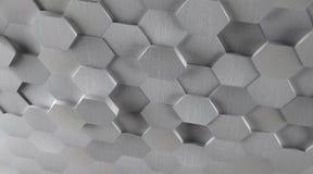 fond hexagonal de tuile en métal 3D illustration stock
