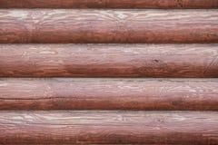 Fond horizontal brun en bois de matériel naturel Photographie stock