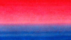 Fond horizontal coloré de texture d'aquarelle de bannière de gradient lumineux bleu rouge de jaune orange Lever de soleil ou Ba b Image libre de droits