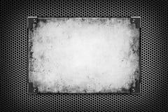 Fond horizontal d'argent de maille en métal Image libre de droits