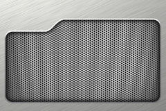 Fond horizontal d'argent de maille en métal Photo stock