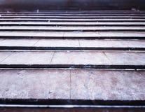 Fond horizontal d'escaliers de granit de ville Photos libres de droits