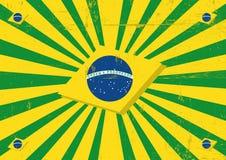 Fond horizontal de rayons de soleil du Brésil illustration de vecteur
