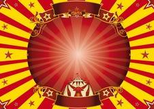 Fond horizontal rouge et jaune de cirque Photographie stock