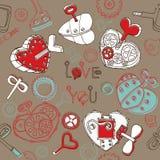 Fond illustré par amour Images libres de droits