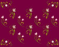 Fond, illustration d'isolement avec des fleurs illustration stock