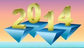 Fond 2014, illustration de nouvelle année de vecteur. Photographie stock