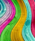 Fond incurvé multicolore de planches Image libre de droits