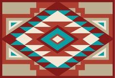 Fond indigène abstrait 3 de sud-ouest rouge et beige illustration stock