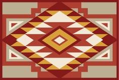 Fond indigène abstrait 1 de sud-ouest rouge et beige illustration stock