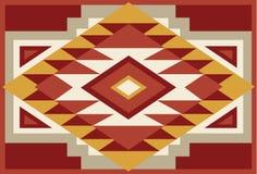 Fond indigène abstrait 2 de sud-ouest rouge et beige illustration libre de droits
