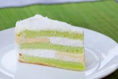 Fond indonésien traditionnel de pierre de désert de gâteau posé de Pandan Images stock