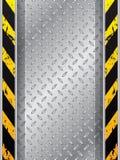 Fond industriel avec des voies de pneu et des barres rayées Photo libre de droits