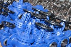 Fond industriel d'une partie de valves photographie stock