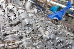 Fond industriel d'une partie de valves photos stock