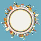 Fond industriel de bâtiments d'usine Image libre de droits