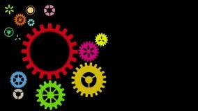 Fond industriel de roue, HD 1080 banque de vidéos