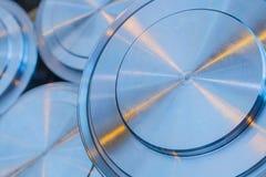 Fond industriel des pièces métalliques de cercle photos stock