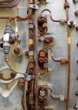 Fond industriel en métal Photos stock