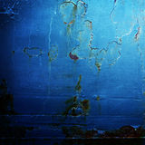 Fond industriel en métal bleu Photo libre de droits