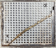 Fond industriel grunge ou texture faite de vieille trappe Images stock