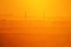Fond industriel jaune Images libres de droits