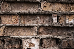 Fond industriel, rue urbaine grunge vide avec le mur de briques d'entrepôt Images libres de droits