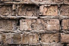 Fond industriel, rue urbaine grunge vide avec le mur de briques d'entrepôt Images stock