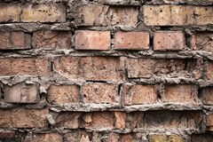 Fond industriel, rue urbaine grunge vide avec le mur de briques d'entrepôt Photographie stock libre de droits