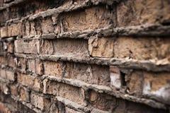 Fond industriel, rue urbaine grunge vide avec le mur de briques d'entrepôt Photographie stock