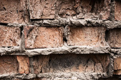 Fond industriel, rue urbaine grunge vide avec le mur de briques d'entrepôt Photos stock