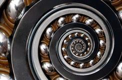Fond industriel surréaliste irréaliste incroyable de modèle d'abrégé sur spirale roulement à billes Abrégé sur en spirale machine photo stock