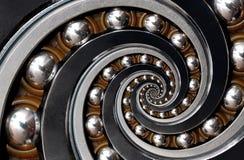 Fond industriel surréaliste irréaliste incroyable de modèle d'abrégé sur spirale roulement à billes Abrégé sur en spirale machine image stock