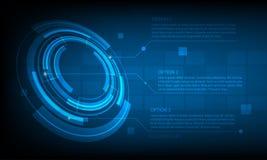 Fond infographic de technologie numérique de cercle abstrait, fond futuriste de concept d'éléments de structure illustration libre de droits