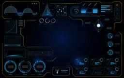 Fond infographic fonctionnant de concept de construction d'écran de technologie de données de l'interface UI de Hud illustration stock