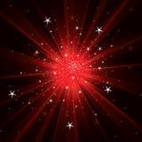 Fond instantané avec les rayons légers et les étoiles Photos libres de droits