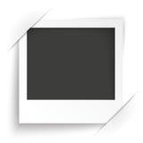 Fond instantané de blanc de cadre de photo de converti Photos libres de droits