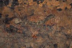 Fond intéressant mur grunge brun de fond image libre de droits