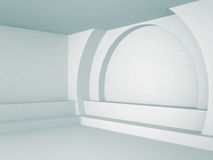 Fond intérieur abstrait de bleu d'architecture Photographie stock