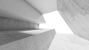 Fond intérieur concret blanc vide Image libre de droits