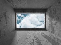 Fond intérieur concret vide abstrait Photos stock