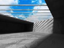 Fond intérieur concret vide abstrait Images stock