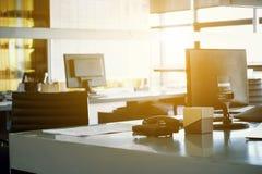 Fond intérieur d'espace de travail Image stock